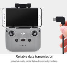 Load image into Gallery viewer, AMZER USB Type C to Micro USB Dedicated Connect Data Cable for DJI Mavic Air 2 - Black