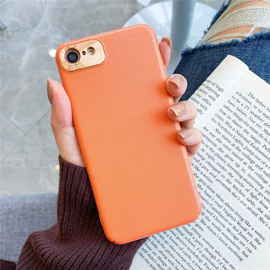 AMZER Slim Textured Case with Lens Ring Protection for iPhone 7/8, iPhone SE 2020 - Orange