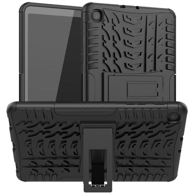 AMZER Hybrid Warrior Kickstand Case for Samsung Galaxy Tab A 8.4 2020 - Black