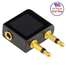 Load image into Gallery viewer, AMZER 3.5mm Airplane Headphone Socket Adapter - Gold/Black