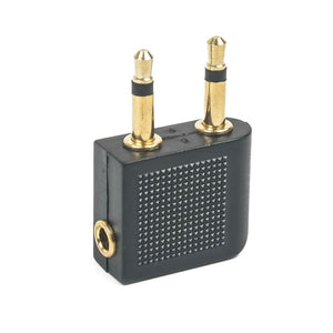 AMZER 3.5mm Airplane Headphone Socket Adapter - Gold/Black
