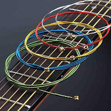 Load image into Gallery viewer, AMZER Guitar Strings Orchestral Instrument Strings Perfect 1 Set 6Pcs Rainbow Colorful E-A Guitar Strings