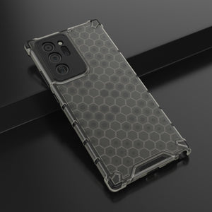 AMZER Honeycomb SlimGrip Hybrid Bumper Case for Samsung Galaxy Note20 Ultra  - Black