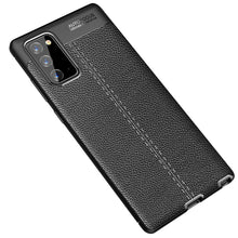 Load image into Gallery viewer, AMZER Litchi Texture Genuine Leather Protective Case for Samsung Galaxy Note20 - Black