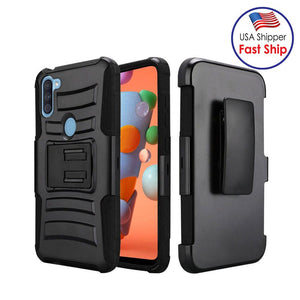 AMZER Hybrid Kickstand Case With Holster for Samsung Galaxy A11
