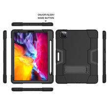 Load image into Gallery viewer, AMZER Shockproof PC + Silicone Protective Case with Holder & Pen Slot for iPad Pro 11 inch (2020) - Black