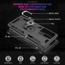 Load image into Gallery viewer, AMZER Sainik Case With 360° Magnetic Ring Holder for Samsung Galaxy Note20 Ultra