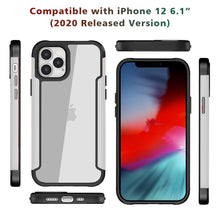 Load image into Gallery viewer, AMZER Ultra Hybrid SlimGrip Case for iPhone 12 mini With Clear Back, Metal Bumper
