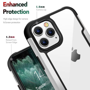 AMZER Ultra Hybrid SlimGrip Case for iPhone 12 mini With Clear Back, Metal Bumper