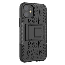 Load image into Gallery viewer, AMZER Hybrid Warrior Dual Layer Kickstand Case for Apple iPhone 12 mini - Black