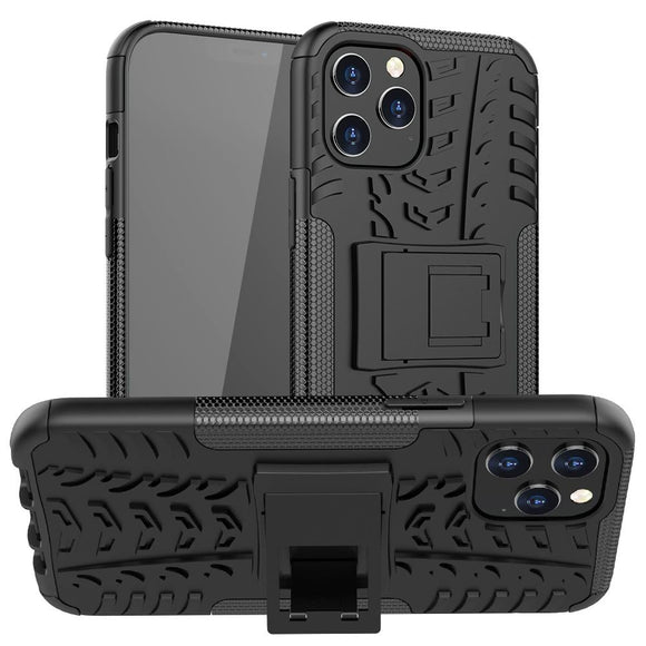 Dual Layer Kickstand Case for Apple iPhone 12 Pro Max - Black