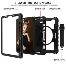 Load image into Gallery viewer, AMZER Dual Layer TUFFEN Shockproof Hybrid Cover for iPad Air 10.9 Inch 2020 - Black