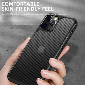 AMZER SlimGrip Carbon Fiber Texture Ultra Hybrid Case for Apple iPhone 12