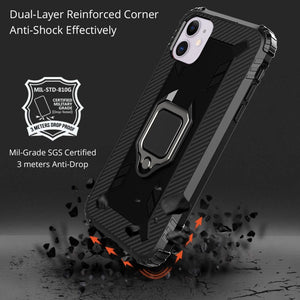 AMZER Sainik Case With 360° Magnetic Ring Holder for iPhone 12 Pro Max