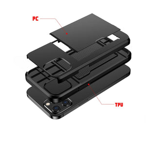 AMZER Hybrid Credit Card Case With Holster for iPhone 12