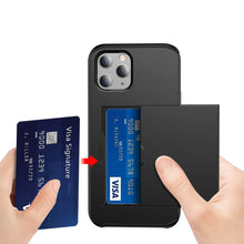 Load image into Gallery viewer, AMZER Hybrid Credit Card Case With Holster for iPhone 12