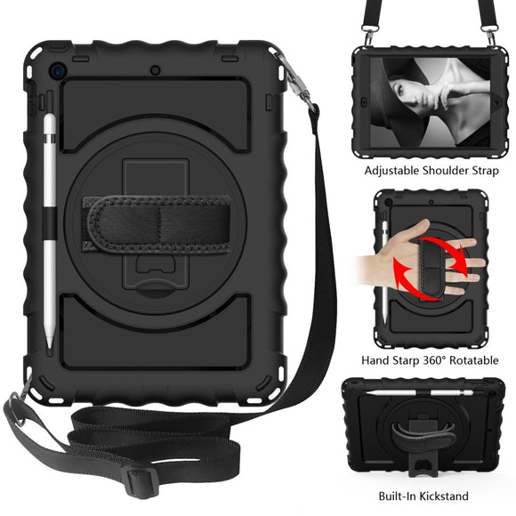 360 Degree Rotating Holder with Shoulder Strap |  iPad 8th Generation  | Amzer
