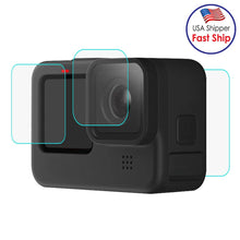 Load image into Gallery viewer, AMZER Camera Lens + LCD Display Tempered Glass Film for GoPro HERO9 Black