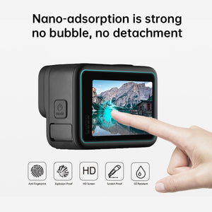 AMZER Camera Lens + LCD Display Tempered Glass Film for GoPro HERO9 Black