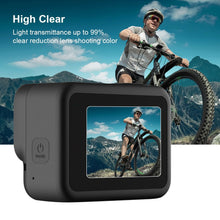 Load image into Gallery viewer, AMZER Camera Lens + LCD Display Tempered Glass Film for GoPro HERO8 Black