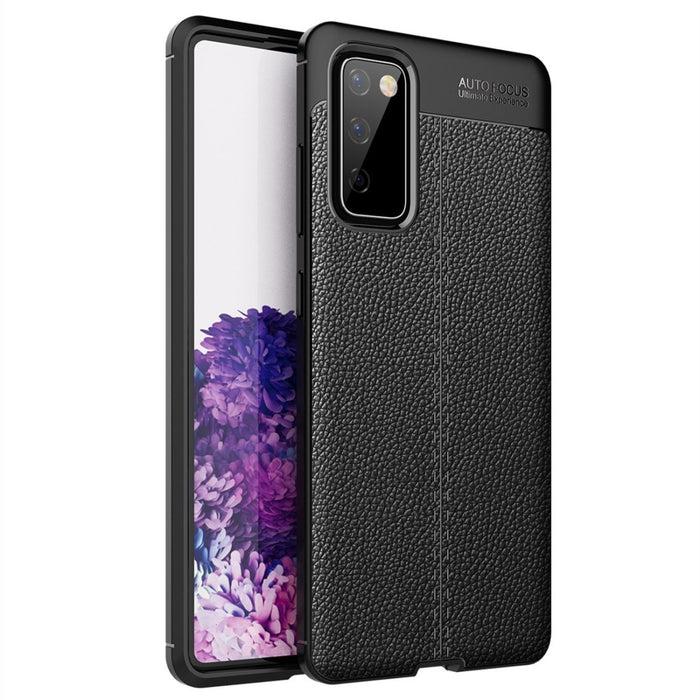 AMZER Texture Genuine Leather Protective Case for Samsung Galaxy S20 FE 5G