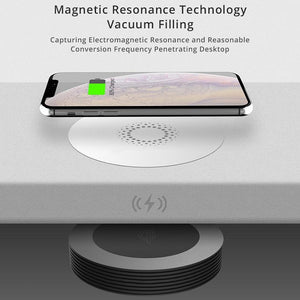 AMZER Desktop Hidden Charging Wireless Charging for iPhone and other Android Smart Phones