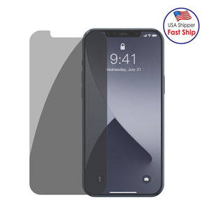AMZER 9H Case friendly Privacy 3D Tempered Glass Screen Protector for iPhone 12 Pro Max - (Pack of 2)