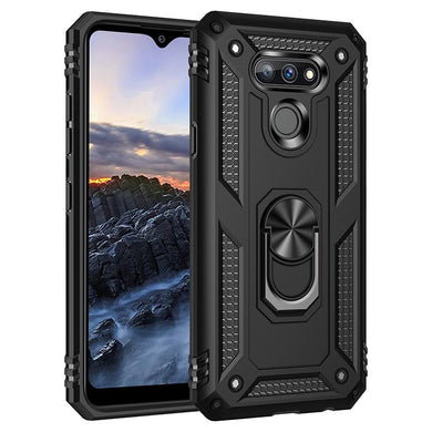 AMZER Sainik Case With 360° Magnetic Ring Holder for LG Harmony 4/ LG Premier Pro Plus/ LG XPression Plus 3/ LG K41
