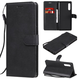 AMZER Horizontal Flip Leather Wallet Case with Card Slot & Lanyard for LG G9/ LG Velvet 5G