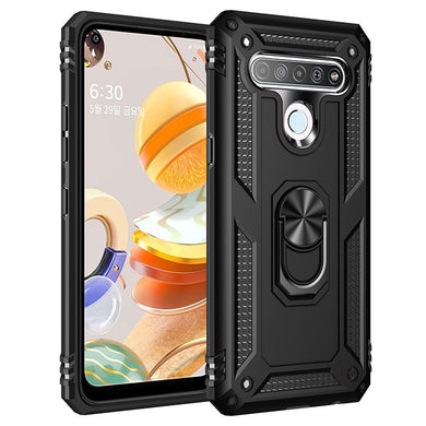 AMZER Sainik Case With 360° Magnetic Ring Holder for LG Q61