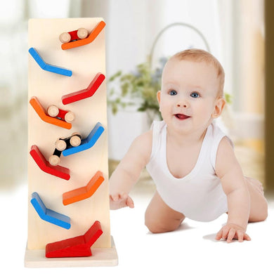 AMZER Educational Wooden Track Pulley Toy for Children