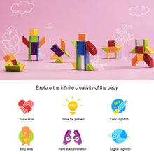 Load image into Gallery viewer, AMZER Children Magnetic Beech Building Blocks
