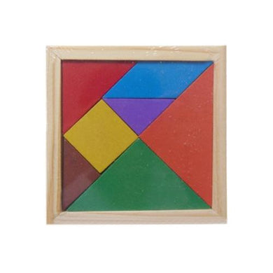 AMZER Baby Toy Fine Wooden Jigsaw Puzzle Tangram