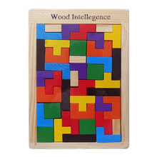 Load image into Gallery viewer, AMZER Puzzle Toy Wooden Color Mosaic Tetris, Size: 27*18cm