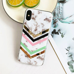 AMZER Marble Design Soft TPU Protective Case for iPhone