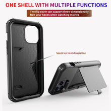Load image into Gallery viewer, AMZER Dustproof Ultra Hybrid Slim Protective Credit Card Wallet Case with Mirror for iPhone 12 mini/ iphone 12/ iphone 12 Pro