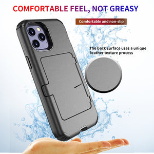 AMZER Dustproof Ultra Hybrid Slim Protective Credit Card Wallet Case with Mirror for iPhone 12 mini/ iphone 12/ iphone 12 Pro