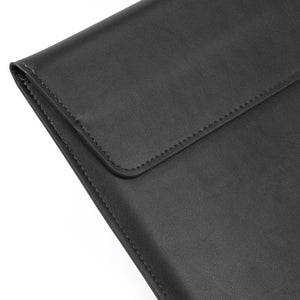 AMZER PU Leather Ultra-thin Envelope Bag Laptop Bag with Stand Function for MacBook Air / Pro - Black