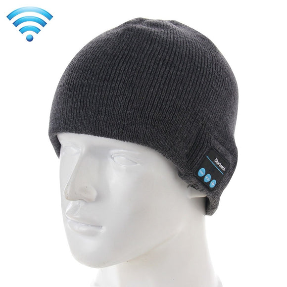Bluetooth Beanie Wireless Headphone Knitted Warm Winter Hat with Mic