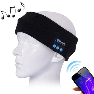 AMZER Knitted Bluetooth Headsfree Sport Music Headband with Mic