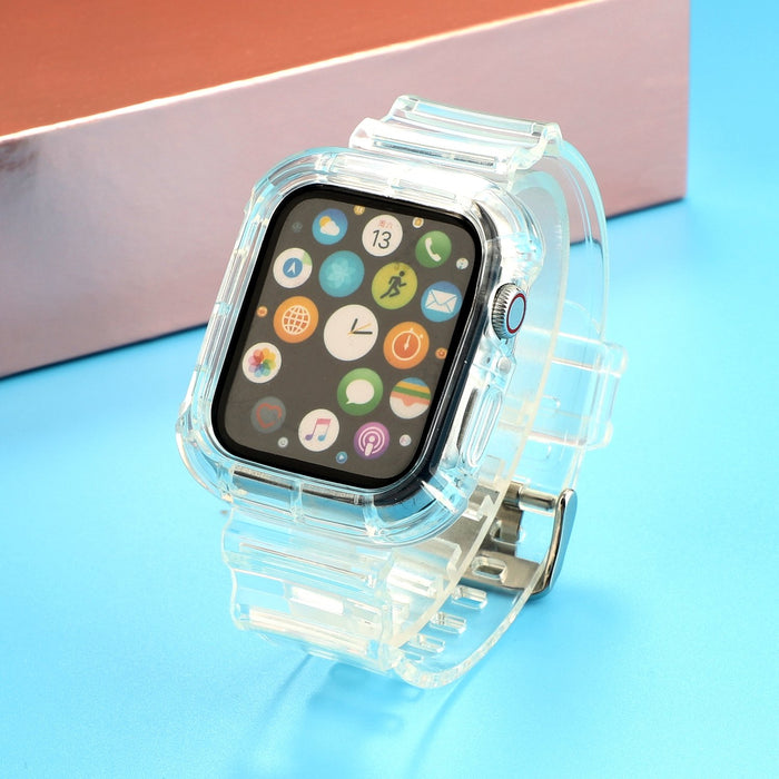 AMZER Transparent TPU Integrated Replacement Watch Strap For Apple Watch Series 6/5/4/SE 40mm