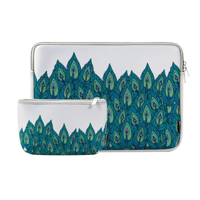 AMZER 2 in 1 Neoprene Zipper Sleeve Pouch Tablet Bag for MacBook 13.3 inch - Green Leaf