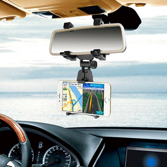 Universal Car Mount Holder Smartphone Stand Rear-view Mirror Holder