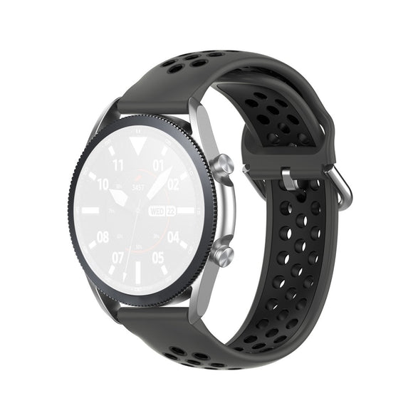 AMZER Silicone Sports Two-tone Strap Watchband for Samsung Galaxy Watch 3 41mm