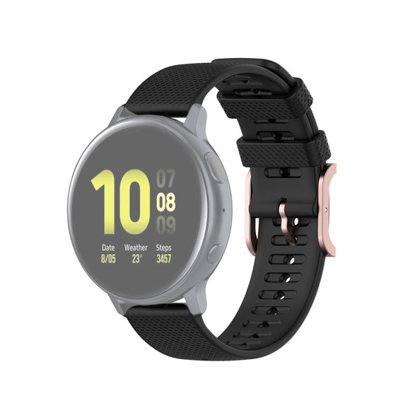 AMZER Silicone Dot Texture Wrist Strap 20mm For Samsung Galaxy Watch Active 3 41mm / Galaxy Watch 42mm