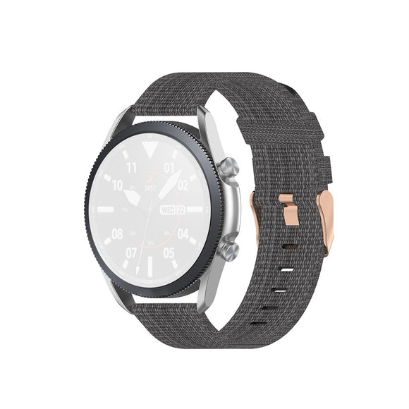 AMZER Woven Nylon Textured Strap For Samsung Galaxy Watch 3 41mm, Size: 20mm