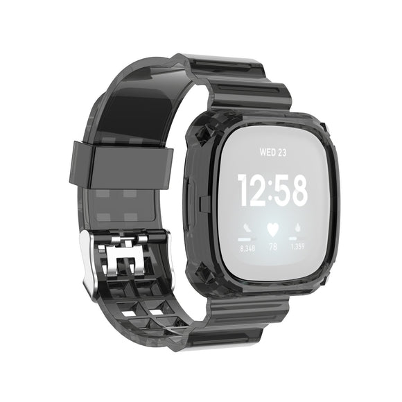 AMZER Transparent TPU Watch Strap For Fitbit Versa 3 / Fitbit Sense