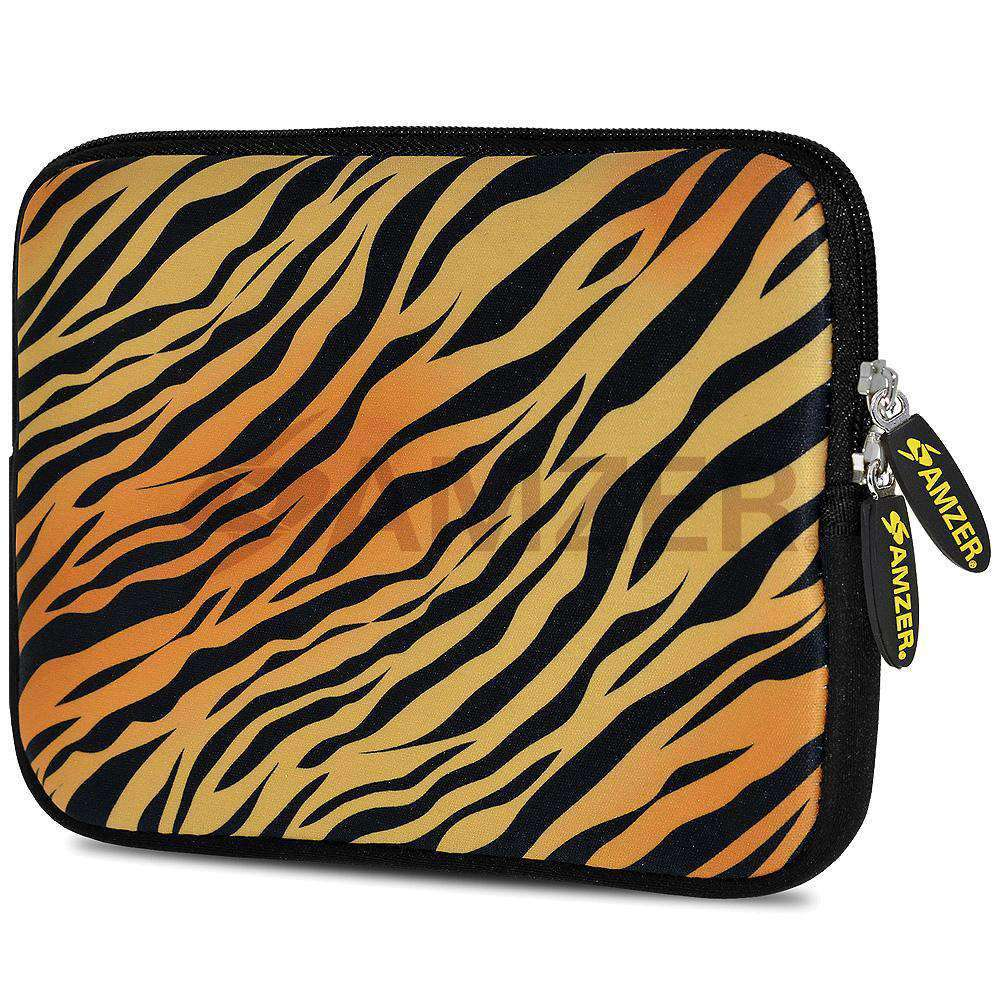 AMZER 10.5 Inch Neoprene Zipper Sleeve Pouch Tablet Bag - Zebra Sands