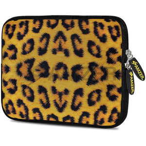 AMZER 7.75 Inch Neoprene Zipper Sleeve Pouch Tablet Bag - Wild Leopard - amzer