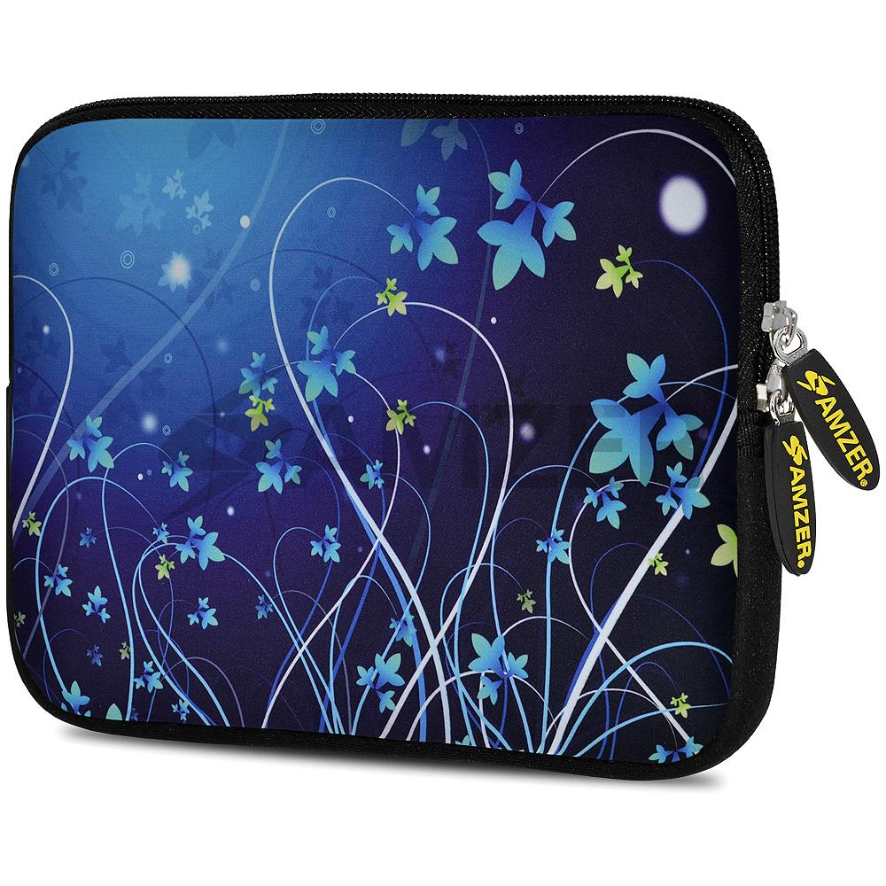 AMZER 10.5 Inch Neoprene Zipper Sleeve Pouch Tablet Bag - Midnight Lily - amzer